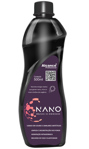NANO BOLHAS DE OXIGÊNIO - Limpa e Hidrata Couro Alcance 500ML