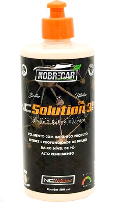 NC Solution 500mL - Polidor 3 em 1 - NC Professional (Nobre Car)