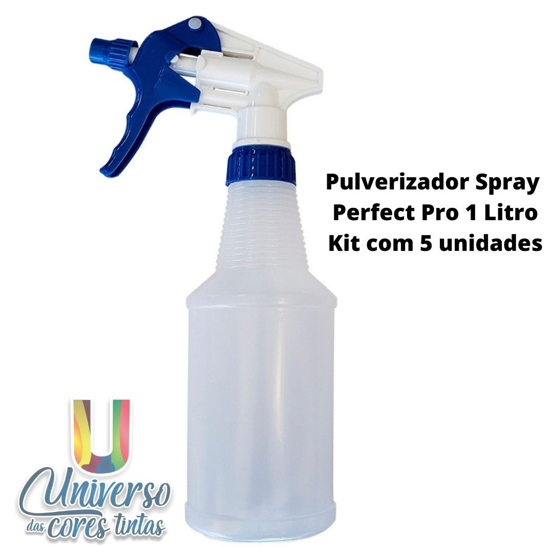 Pulverizador Spray Perfect Pro 1 Litro (Kit com 5 Unidades)