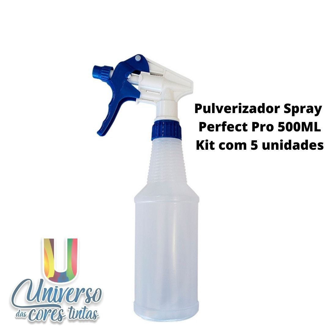 Pulverizador Spray Perfect Pro 500 ML (Kit com 5 Unidades)
