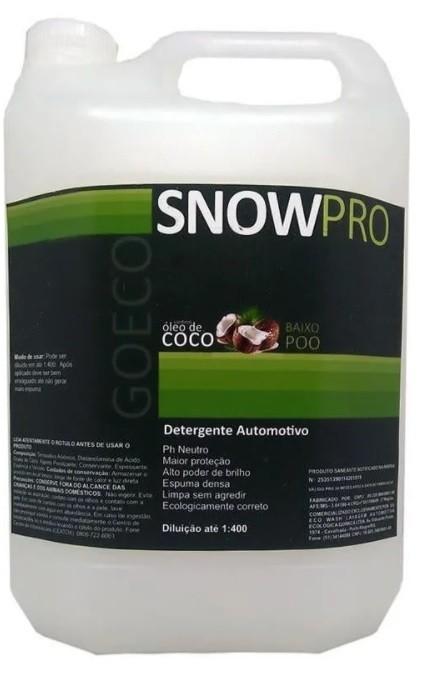 Snow Pro - Shampoo Automotivo com Óleo de Coco 5L - Go Eco Wash