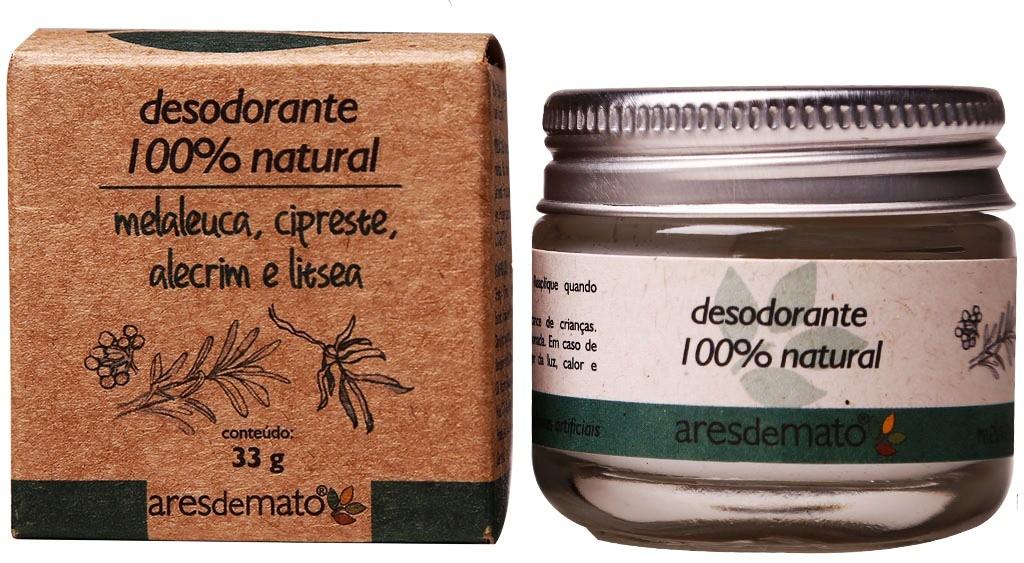 DESODORANTE NATURAL MELALEUCA, CIPRESTE, ALECRIM E LITRSEA 33G - ARES DE MATO