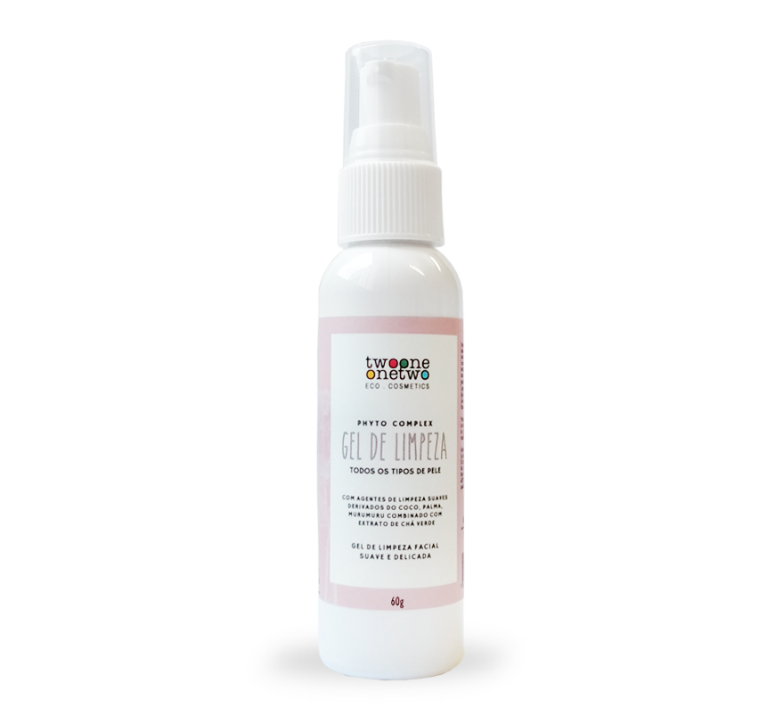 GEL DE LIMPEZA FACIAL NATURAL VEGANO SULFATE FREE CHÁ VERDE - TWOONE ONETWO 60G