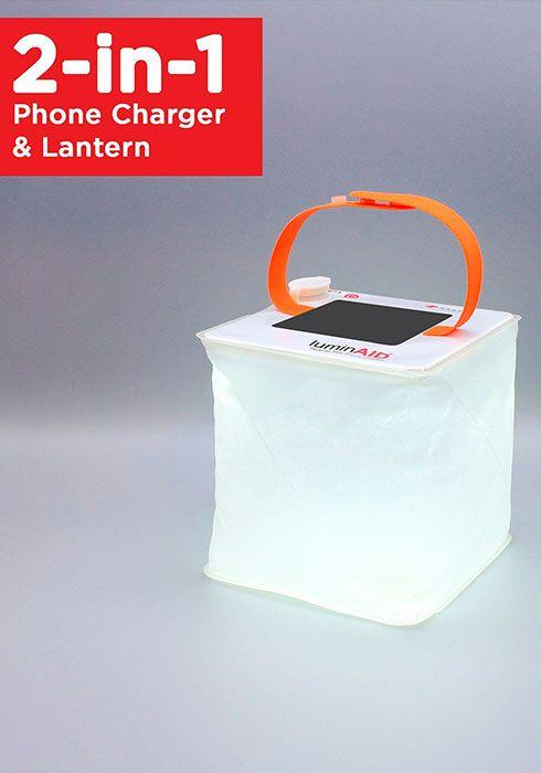 LANTERNA INFLÁVEL SOLAR LED LUMINAID PACKLITE MAX 2-IN-1 IMPERMEÁVEL E RECARREGA CELULAR
