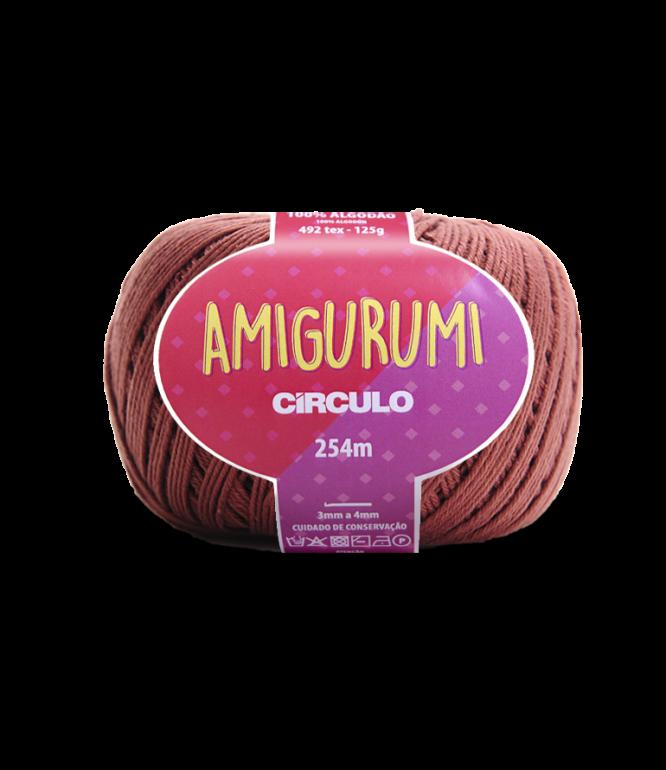 LINHA CÍRCULO AMIGURUMI COR 7567 CACAU