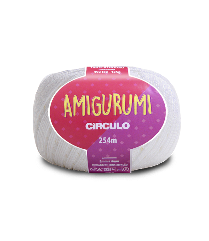 LINHA CÍRCULO AMIGURUMI COR 8001 BRANCO