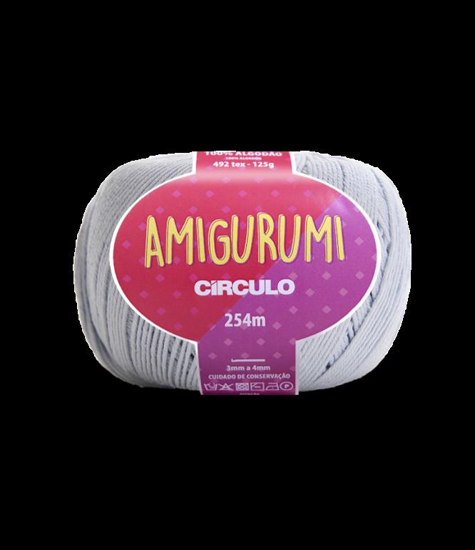 LINHA CÍRCULO AMIGURUMI COR 8013 GLACIAL (CINZA CLARO)