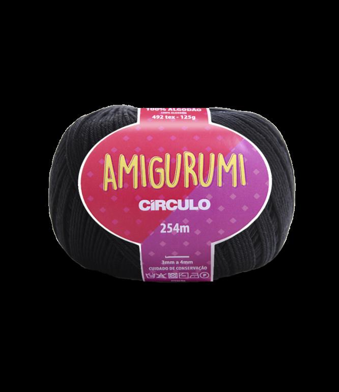LINHA CÍRCULO AMIGURUMI COR 8990 PRETO