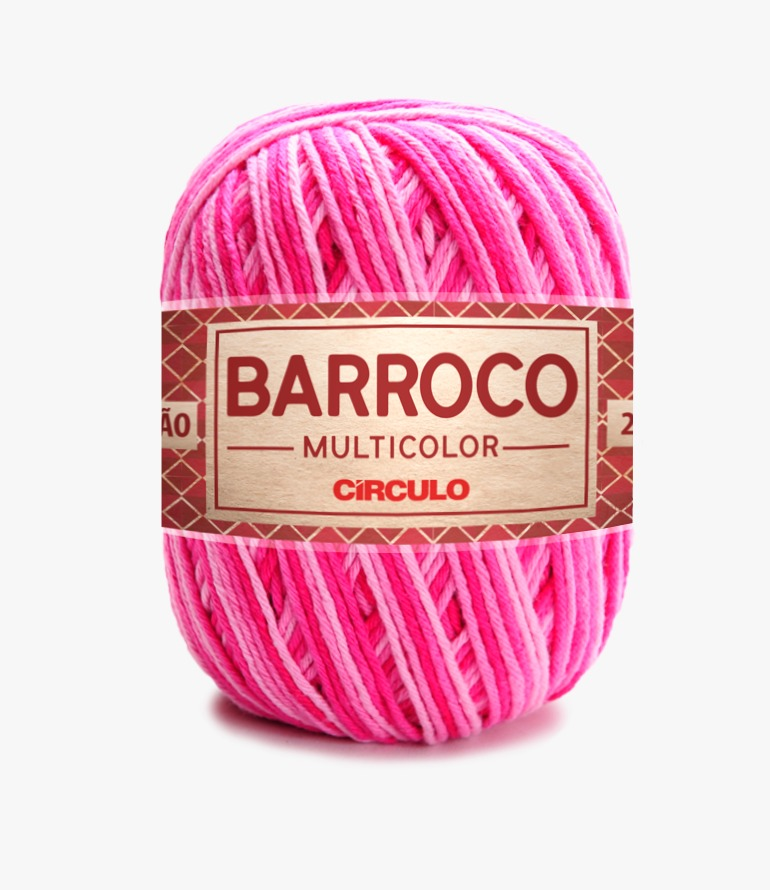 LINHA CÍRCULO BARROCO MULTICOLOR 200g COR 9427 FLOR (ROSA MESCLA)