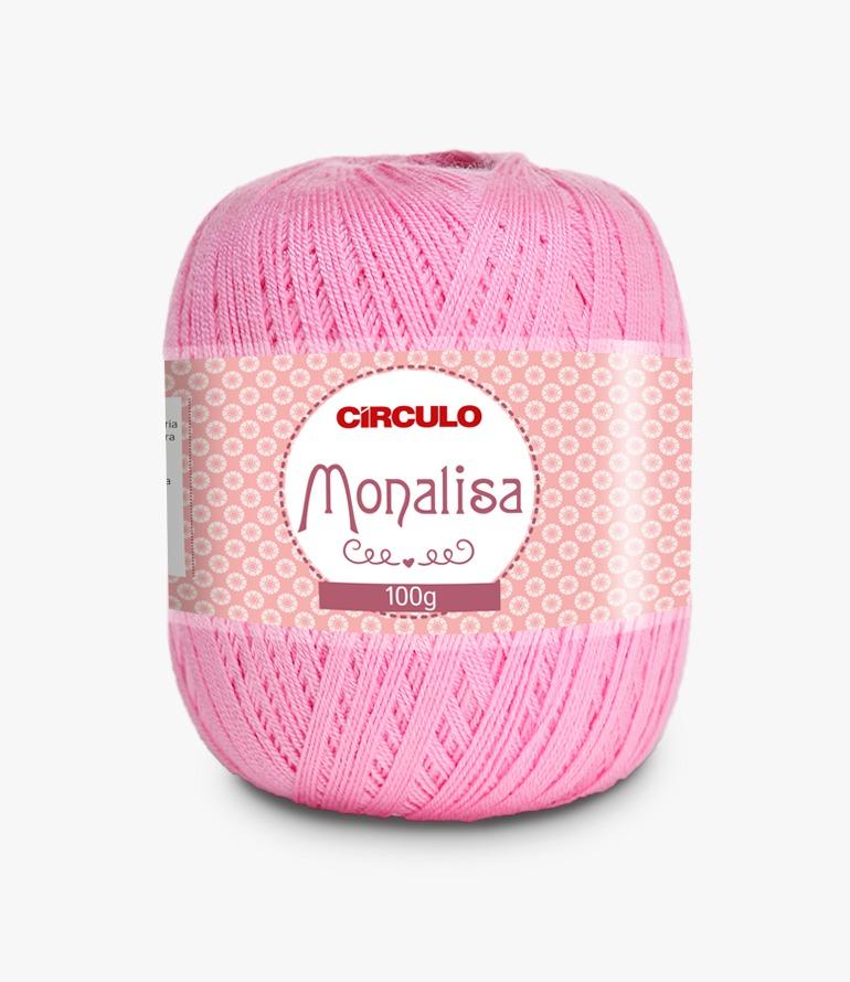 LINHA CÍRCULO MONALISA 100g COR 3131 CHICLETE (ROSA)