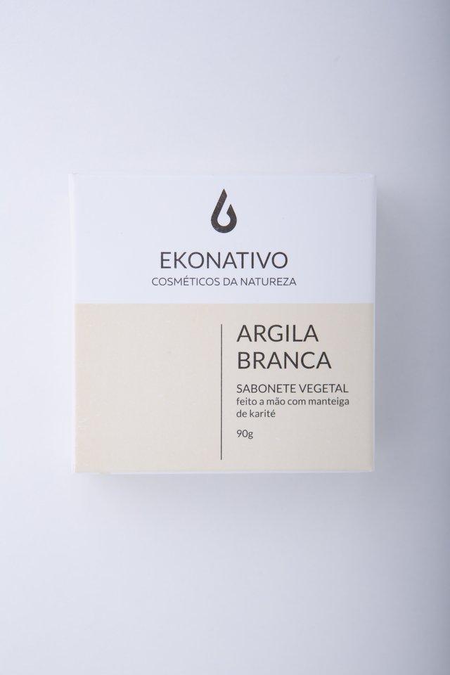 SABONETE ARGILA BRANCA - EKONATIVO 90G