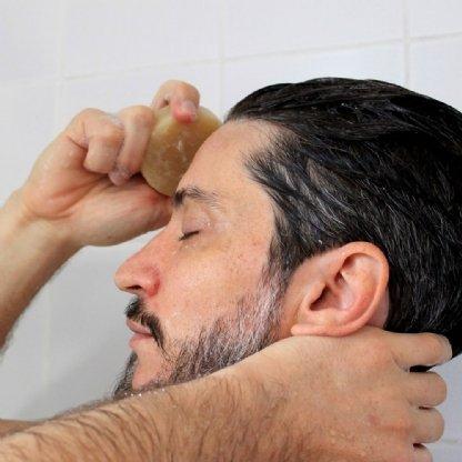 SHAMPOO EM BARRA TOMILHO, ALECRIM, MENTA E LOURO 90G POSITIVA