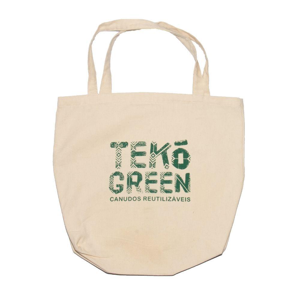 Sacola Ecológica Tekó Bag - 100% Algodão Cru