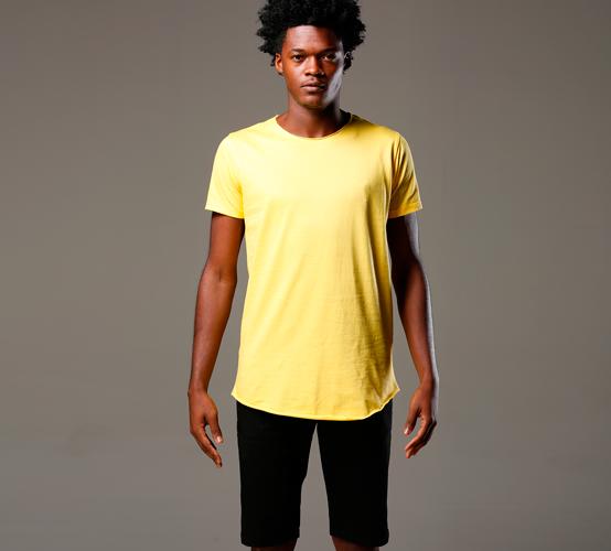 Amarela Long // estampa na frente
