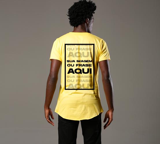 Amarela Long // estampa nas costas