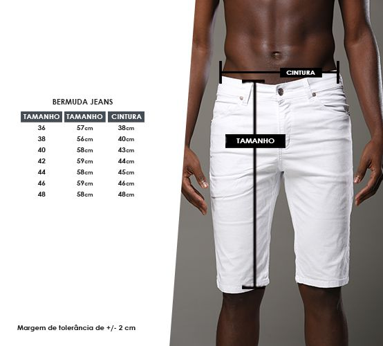 Bermuda Jeans White