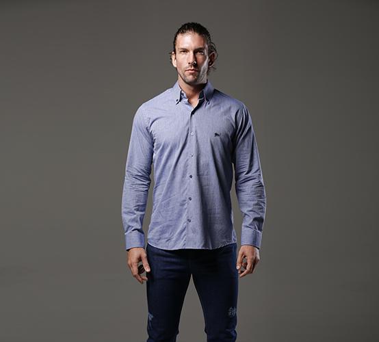 Camisa Manga Longa Califa Azul