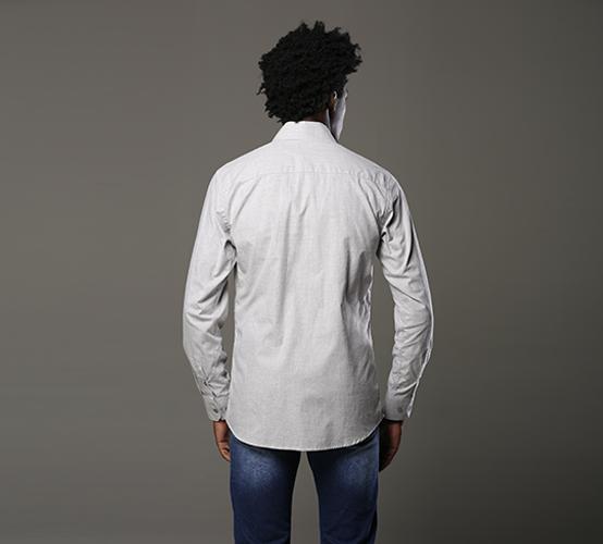 Camisa Manga Longa Califa Cinza