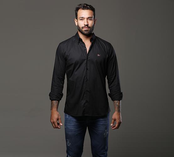 Camisa Manga Longa Milano Black