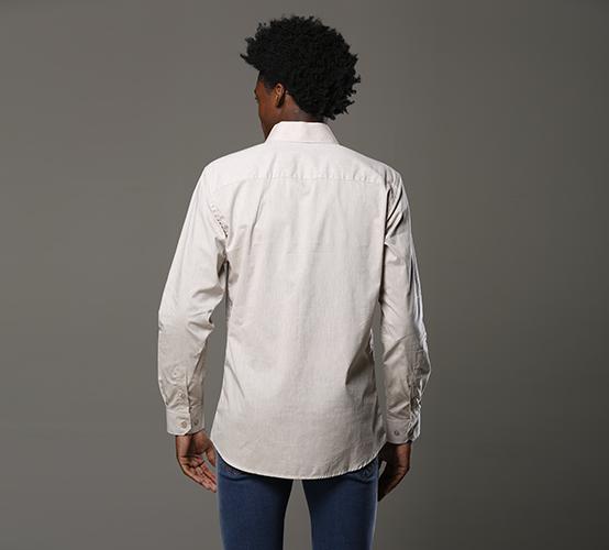 Camisa Manga Longa Milano Marfim