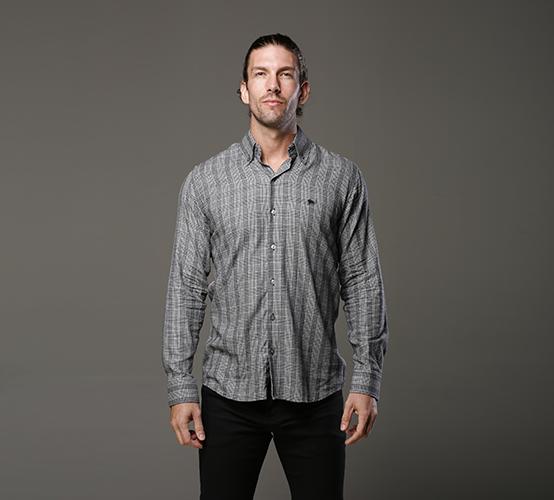 Camisa Manga Longa Xadrez Preta