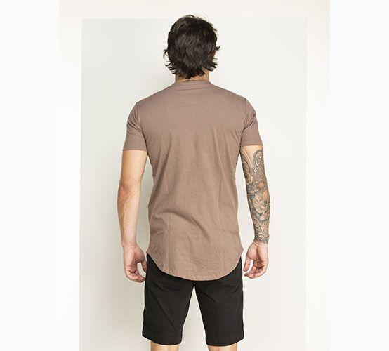 Camiseta Marrom Long