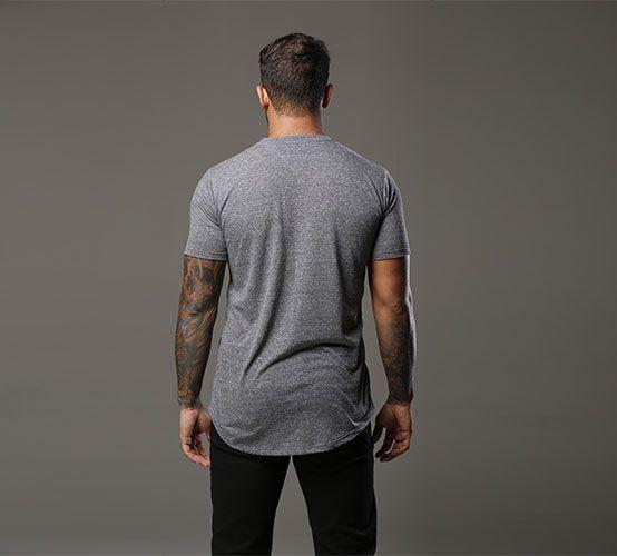 Camiseta Mescla Escura Long