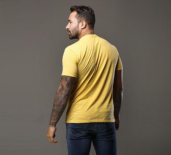 Camiseta Poá Amarela