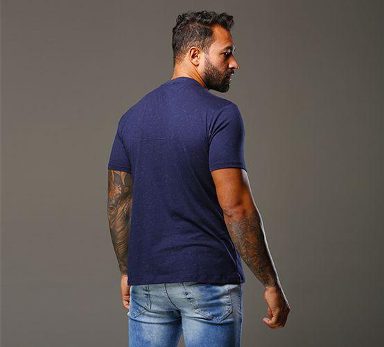 Camiseta Poá Marinho