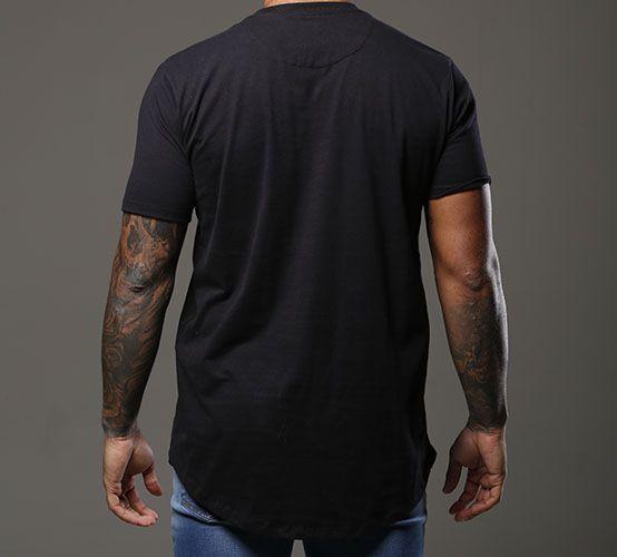 Camiseta Preta Long