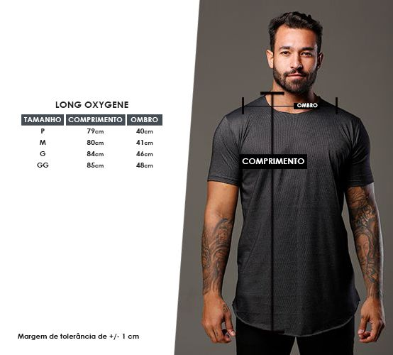 Camiseta Oxygene Grafite Long