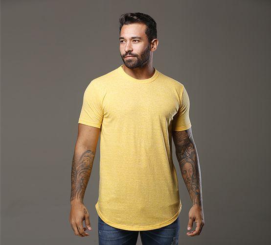 Camiseta Amarela Poá Long