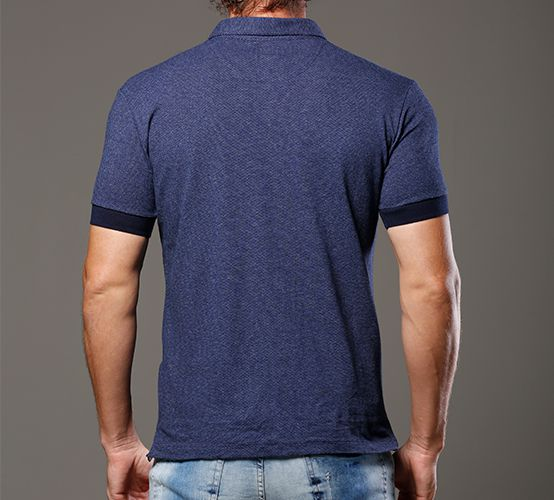 Polo Veraneio Azul Denim