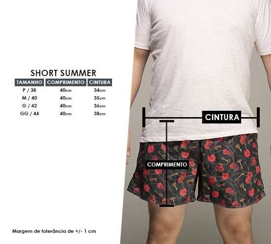 Short Rosa Chave