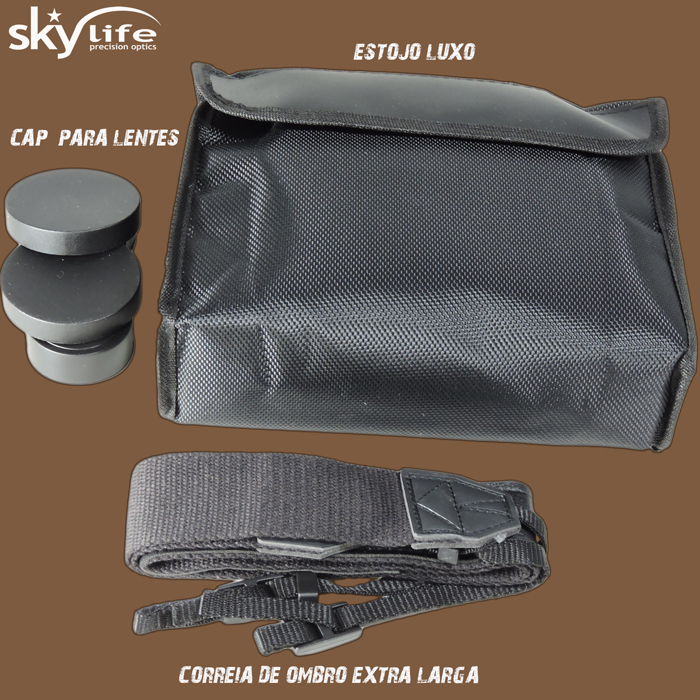 Binóculo Skylife 10x50 RF-PRO Astronômico com Filtro Planetário