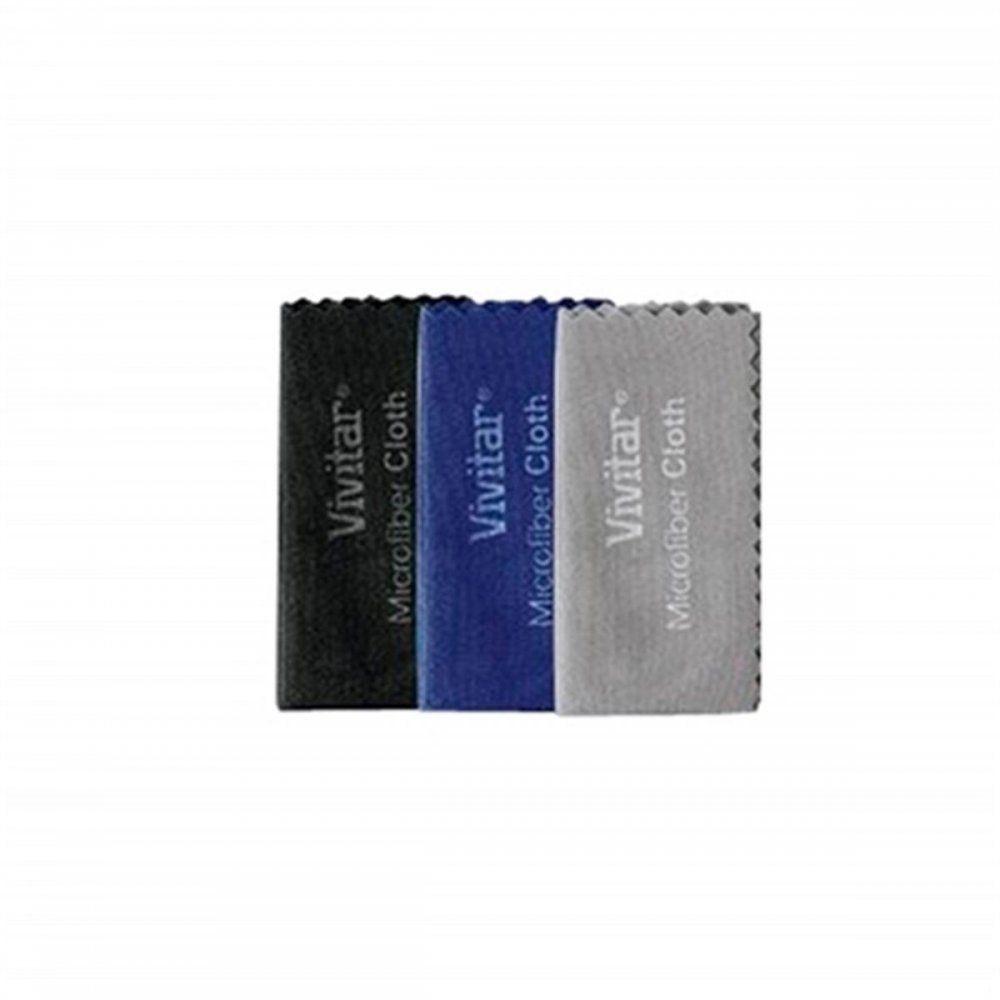 Conjunto De 3 Lenços De Microfibra P/ Limpeza Vivitar MIC3