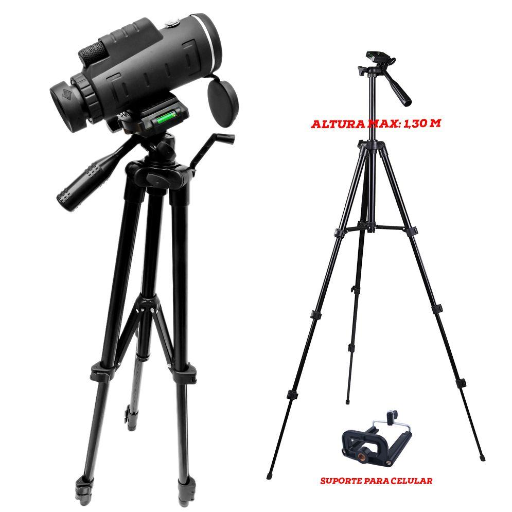 KIT Luneta JY-4060  Nature +  Tripé Versus + Adaptador Celular