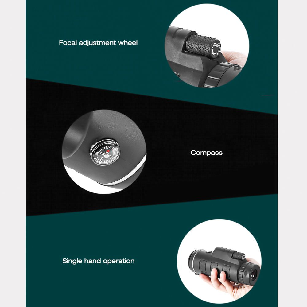KIT Luneta JY-4060  Nature +  tripé Versus Alumínio