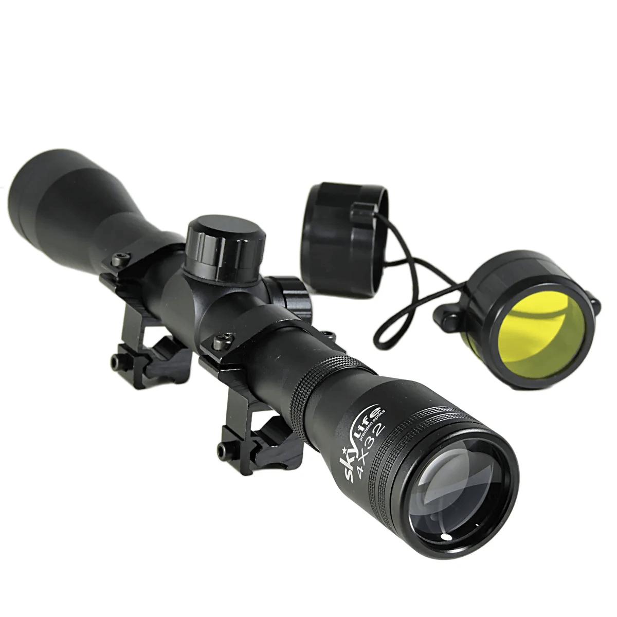 Luneta Skylife 4x32 SK Tática de Apontaria para Tiro com Carabinas (Trilho 22mm)
