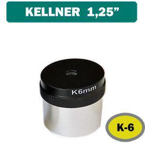 Ocular Kellner K 6mm (Padrão de encaixe de 1,25 Polegadas)