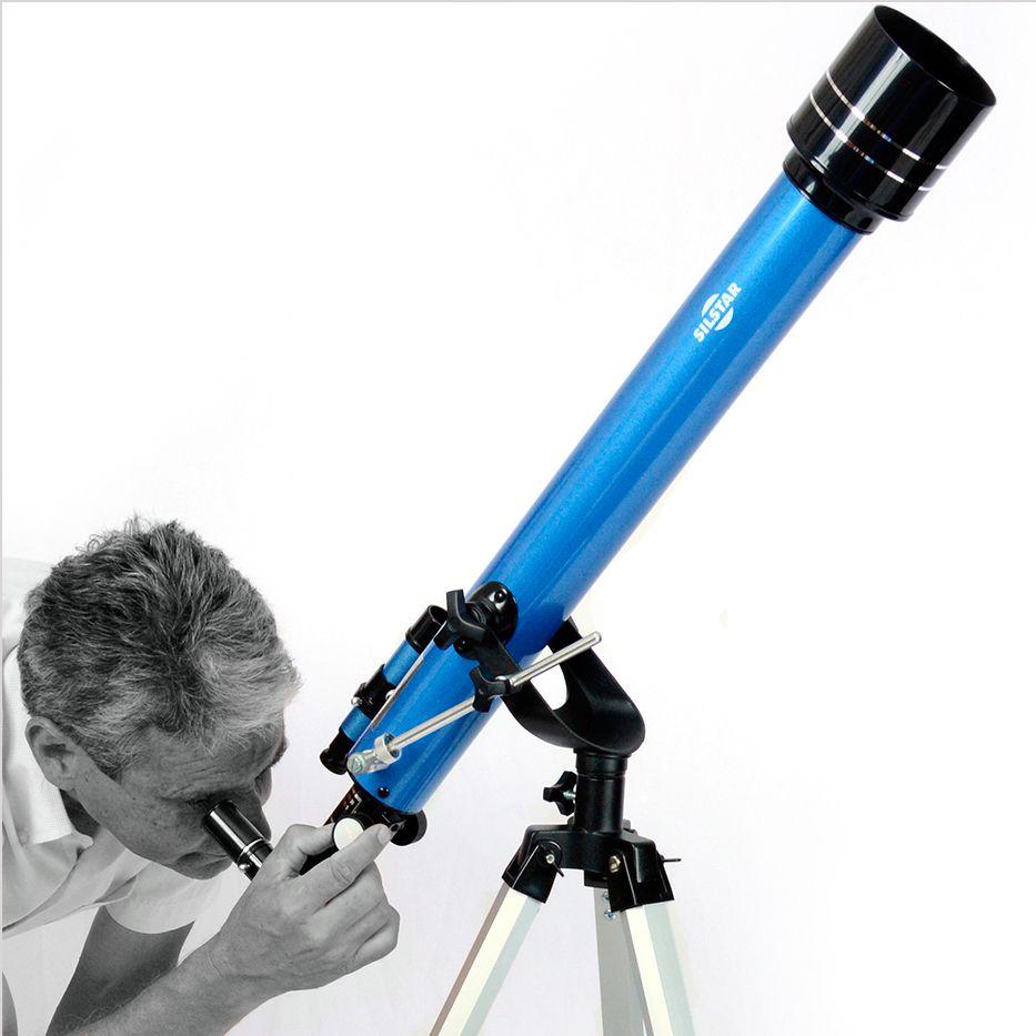 PONTA DE ESTOQUE: Telescópio Refrator 60mm Silstar Sirius SI60 Super - 675X