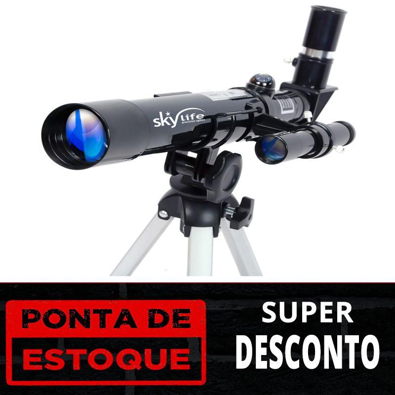 PONTA DE ESTOQUE: TELESCÓPIO SKYLIFE 40MM NOVICE 32X
