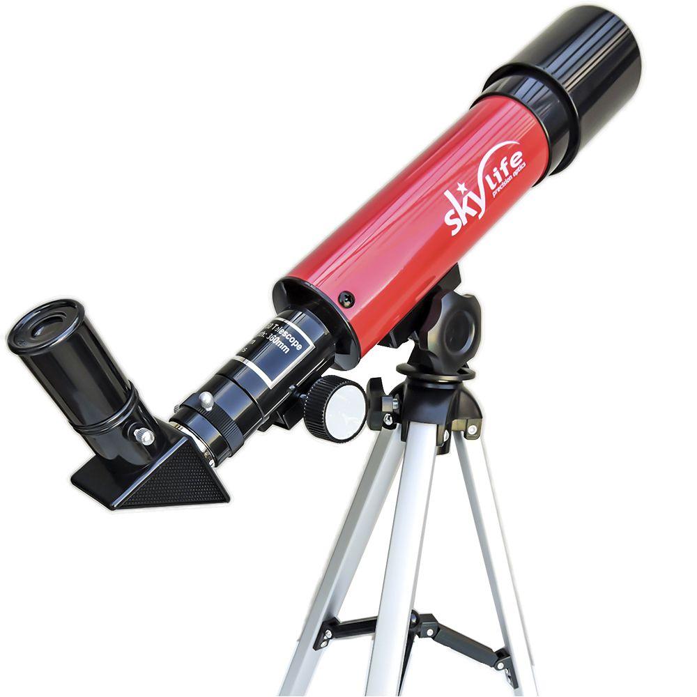 PONTA DE ESTOQUE: Telescópio Skylife 50mm Novice 60X - Hi-Power Refrator Terrestre / Astronômico