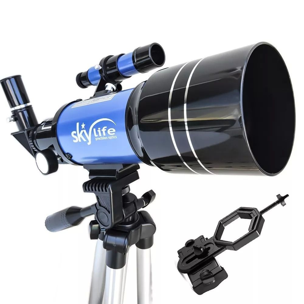 Telescópio SkyLife 70mm Tycho Pro + Adaptador Celular Adtx