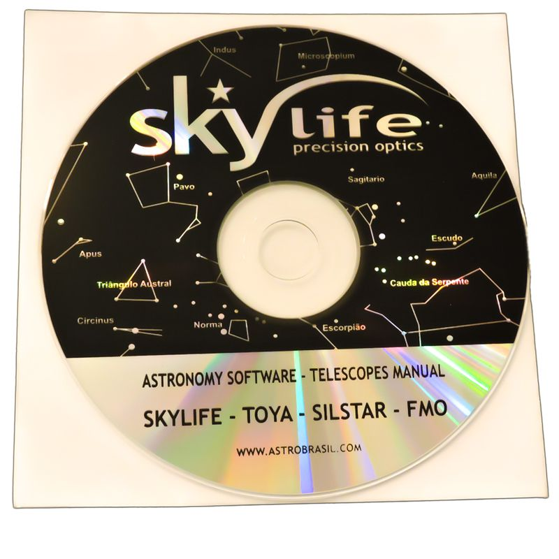 Telescópio Skylife 114mm Cygnus AZ2 + Super Plossl + CD-ROM