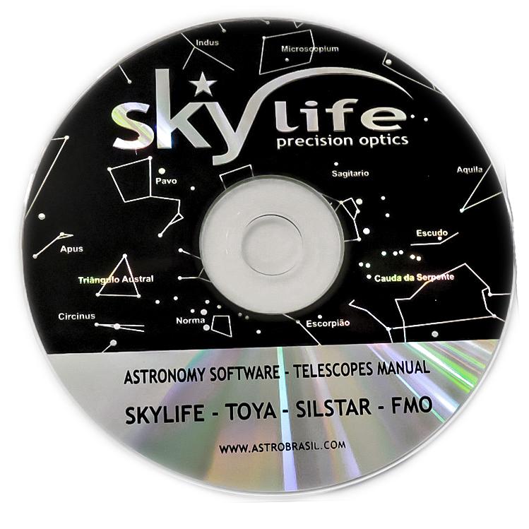 Telescópio Skylife 114mm Cygnus AZ2 + Super Plossl + CD-ROM