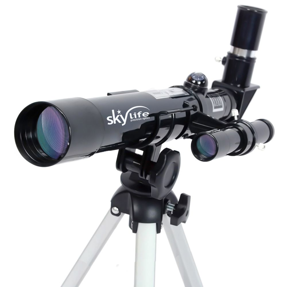 Telescópio Skylife 40mm Novice 32x Hi-Power Refrator terrestre / astronômico