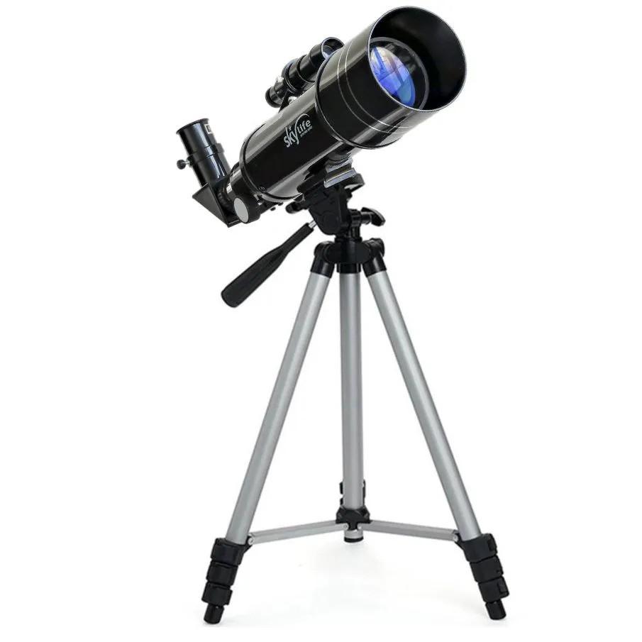 Telescópio Skylife 70mm TCRATER + Adaptador Celular Adtx + Estojo Rígido Luxo