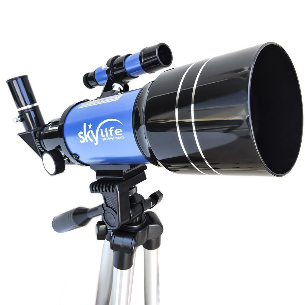 Telescópio SkyLife 70mm Tycho Pro + Adaptador Celular Adtx + Estojo Rígido Luxo