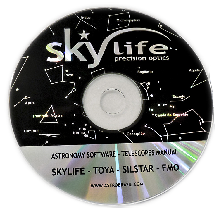 Telescópio Skylife 70mm Vox Bright AZ2 + Super Plossl + CD-ROM